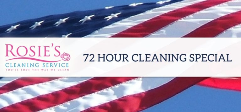 72 Hour 4th of July After Party Cleaning Special ($250 Value)